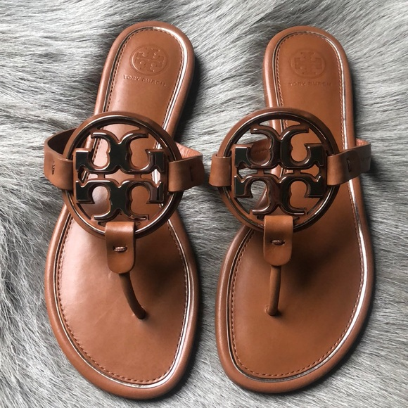deb303c961c9 NEW Tory Burch Miller Rose Gold Tan Sandals 7.5. M 5b942a772e1478bd72e449e6